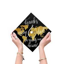 Graduation Cap Decal Download Only Thanks Mom And Dad For Etsy