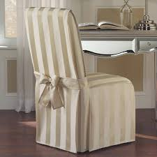 Amazon Com United Curtain Madison Dining Room Chair Cover 19 By 18 By 39 Inch Natural Home Kitchen
