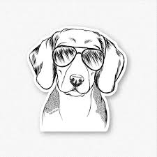 Jake The Beagle Decal Sticker Inkopious