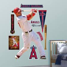 Shop Fathead Mike Trout Wall Decals Overstock 9750108