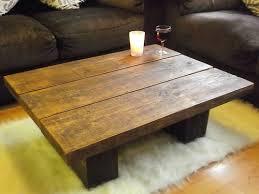 new dark solid pine wood coffee table