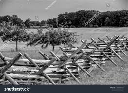 Black White Photo Wooden Split Rail Stock Photo Edit Now 1283024992