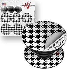 Amazon Com Decal Style Vinyl Skin Wrap 3 Pack For Popsockets Houndstooth Black And White Popsocket Not Included By Wraptorskinz Everything Else