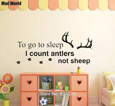 To Go To Sleep I Count Antlers Not Sheep Wall Art Stickers Wall Decals Home Diy Decoration Removable Room Decor Wall Stickers Sticker Wall Decal Wall Decalswall Sticker Aliexpress