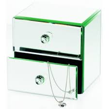 creations mirror 2 drawer jewellery box