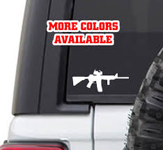 Ar15 Ar 15 M16 Vinyl Sticker Decal Mile High Campers