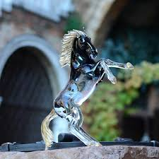murano glass rearing horse decorative