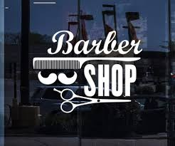 Window Sign Vinyl Decal Wall Stickers Barber Shop Badges Tools Hair Sa Wallstickers4you