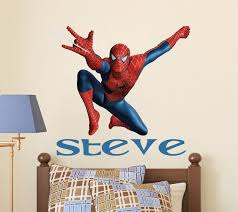 Personalized Name Wall Decal Boy Spider Man Name Vinyl Etsy