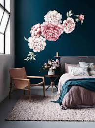 Rose Wall Decal Flower Fairy Fabric Simple Art Watercolor Peony Large Decorations Vamosrayos