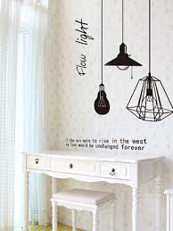 Buy Wall Decal Pendant Light Pattern Creative Living Room Bedroom Wall Sticker Wall Stickers At Jolly Chic