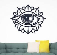 Amazon Com Third Eye Wall Decal Chakra Symbol Vinyl Design Home Room Decoration Cg1557 50 Width X 42 Height Home Kitchen