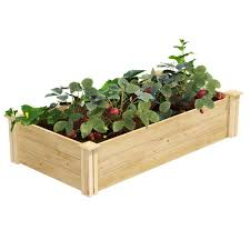 Greenes Fence 2 Ft X 4 Ft X 10 5 In Original Cedar Raised Garden Bed Rc24484t The Home Depot