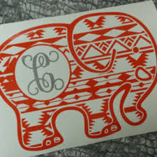 Elephant Decal Decal Car Monogram From Southernbroaddecals