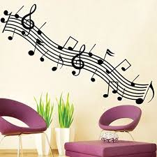 Music Notes Symbol Wall Decal Pvc Home Sticker House Vinyl Paper Decoration Wallpaper Living Room Bed Music Wall Decal Music Wall Stickers Wall Stickers Murals
