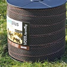 Voss Farming Electric Fence Tape 200 M 40 Mm Orange Brown 2x Cu 8x Ss Expert Plus