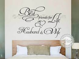 Best Friends For Life Husband Wife Romantic Bedroom Wall Sticker Quote Decal 12 99 Picclick Uk