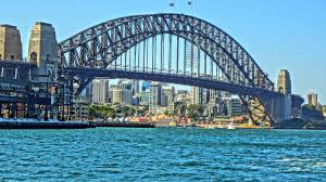 beautiful sydney harbour bridge in