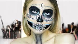 glam diamond skull makeup tutorial