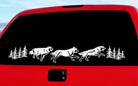 Running Wolves Vinyl Decal Set Seward Street Studios