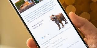 Google 3D animals list: Lions, tigers ...