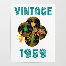 vine vinyl 1959 60th birthday