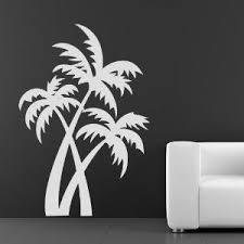 Amazon Com Palm Trees At The Beach Wall Art Sticker Wall Decals H 50cm W 50cm Palm Tree Art Beach Wall Art Sticker Wall Art