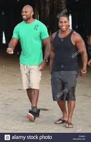 Celebrities on Santa Monica Beach Featuring: Shad Gaspard,JTG ...