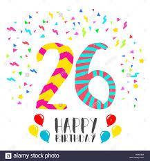Feliz Cumpleanos Numero 26 Tarjeta De Felicitacion Para Veinte