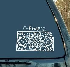 Mandala Decal Kansas Decal State Decal Car Decal Laptop Sticker Mandala Sticker Cup Mug Home Mandala Decals Mandala Car Decals