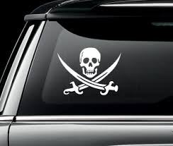 Pirate Decals Car Decals Car Stickers Custom Vinyl Decals Vinyl Monograms And Wall Vinyl Decal Me Now