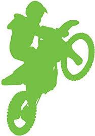 Amazon Com Jmm Industries Motocross Wheely Dirtbike Vinyl Decal Sticker Car Window Bumper Premium Quality Uv Resistant Die Cut Lime Green 5 Inches Automotive