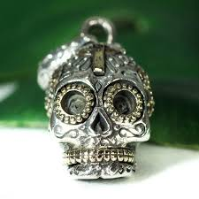 rapanui mexican skull sterling silver