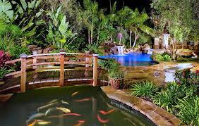 koi pond garden decoration