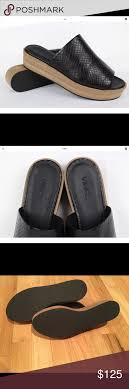 VINCE. wood platform snake slides sandals wedges | Slide sandals, Vince  shoe, Wedge sandals