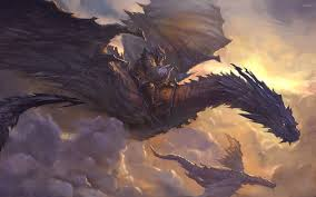 knight on dragon wallpaper fantasy