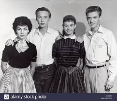ANNETTE FUNICELLO Tommy Kirk , Roberta Shore and Tim Considine.The Stock  Photo - Alamy