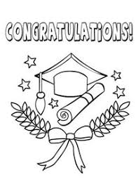 free printable graduation coloring