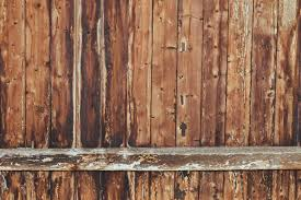 Brown Wooden Plank Fence Free Stock Photo