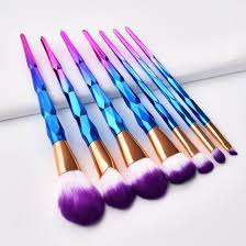 7pcs rainbow makeup brushes