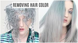 removing semi permanent hair color