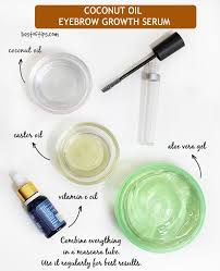 diy eyebrow gel coconut oil eyebrowshaper