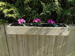 Over The Fence Panel Hanging Balcony Wooden Planter Window Box Trough Reverse Decking Corner Covers 3ft 91 5 Cm Natural Amazon Co Uk Garden Outdoors