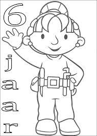 Kids N Fun Kleurplaat Bob De Bouwer Verjaardag Wendy 6 Jaar