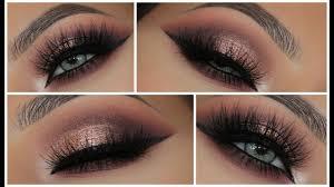 glamorous pink metallic smokey eye