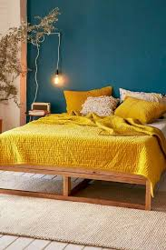 easy ways to add yellow to your bedroom