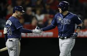 C.J. Cron homers vs. former teammates, Rays rout Angels 7-1