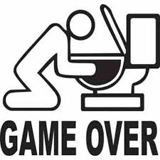 Game Over Toilet Jdm Car Vinyl Sticker Decal