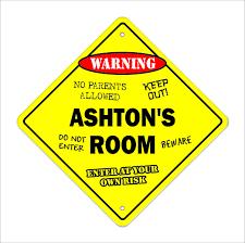 Ashton S Room Decal Crossing Xing Kids Bedroom Door Children S Name Boy Girl 756756464589 Ebay