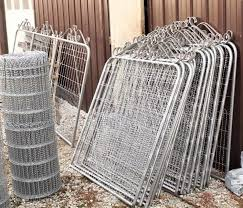 Old Fashioned Woven Double Loop Wire Fence Gate 4 T By 3 W